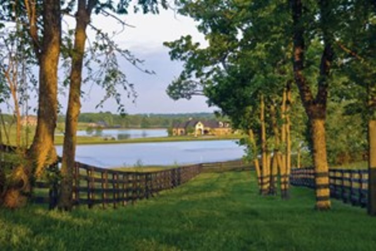 Equestrian Lakes in Finchville, Kentucky, is an upscale development designed to complement country living and the equestrian lifestyle. Its manicured eight-mile loop trail passes through woods, open fields, and bluegrass hills.