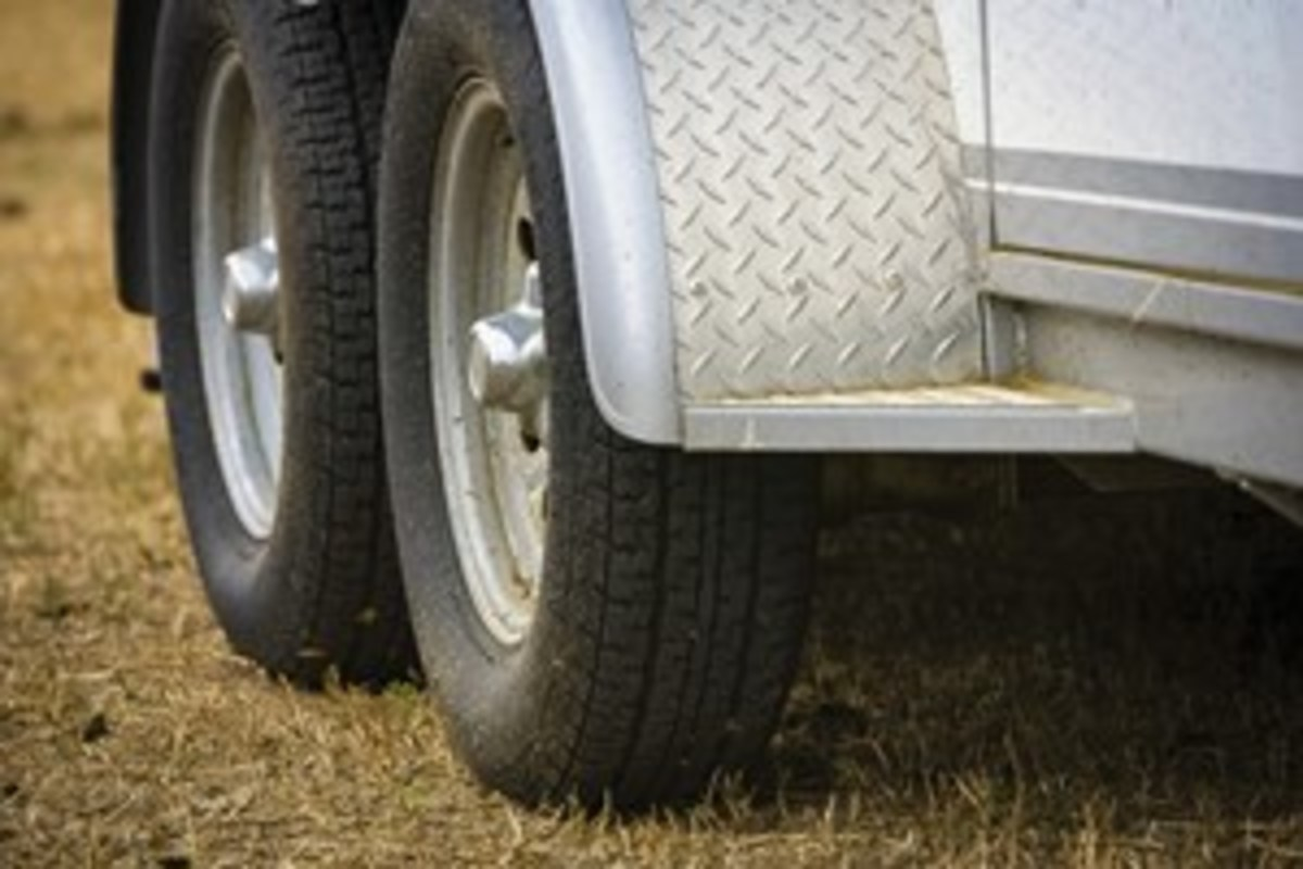 Credit: Heidi Melocco If your trailer isn't level, it'll put more weight on the front or the rear tires. As a result, the tires will be stressed beyond capacity and can blow.