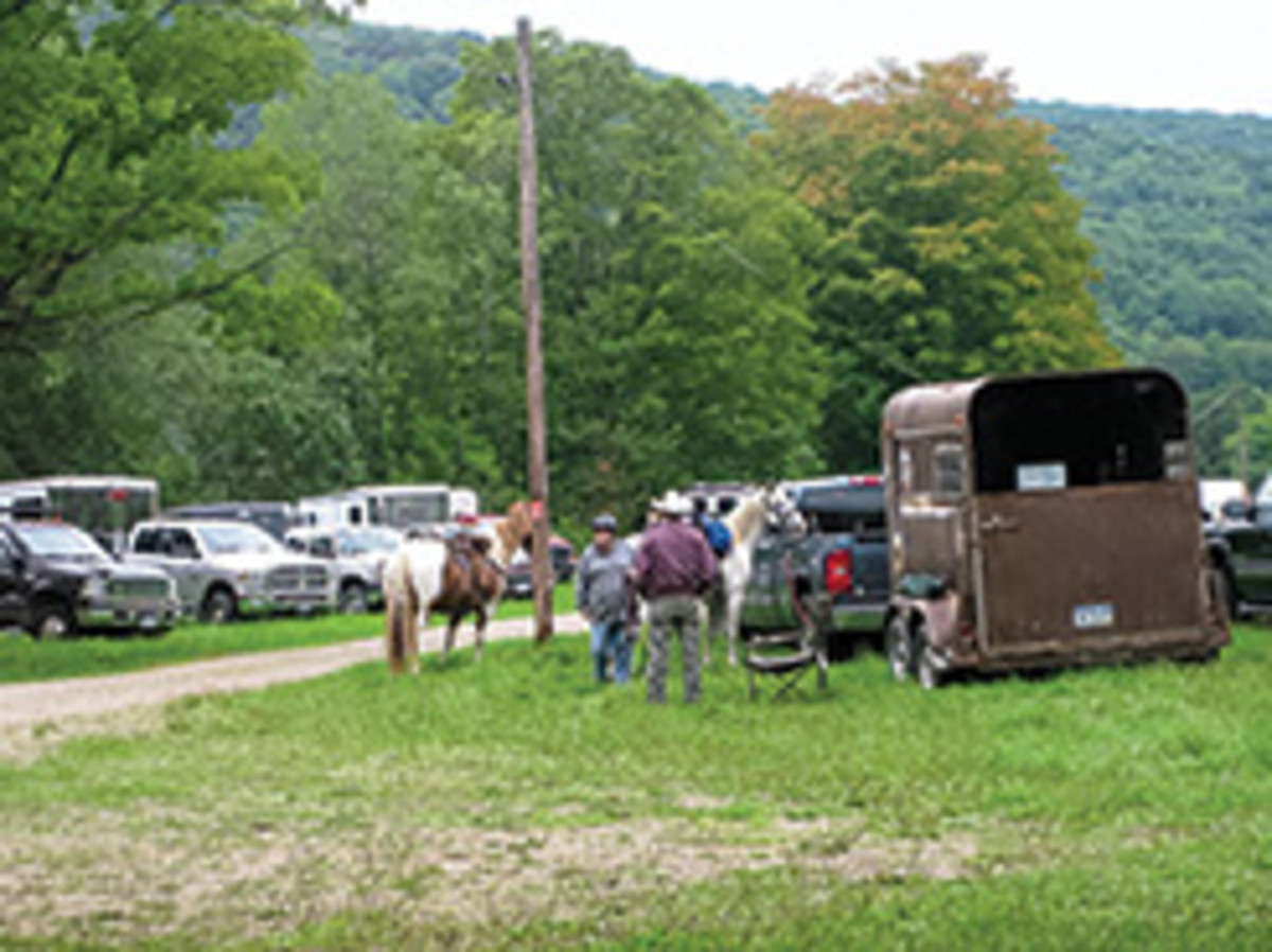 Credit: Leah Leising Riders in New York's Allegany State Park at the Lonkto Meadow parking area.