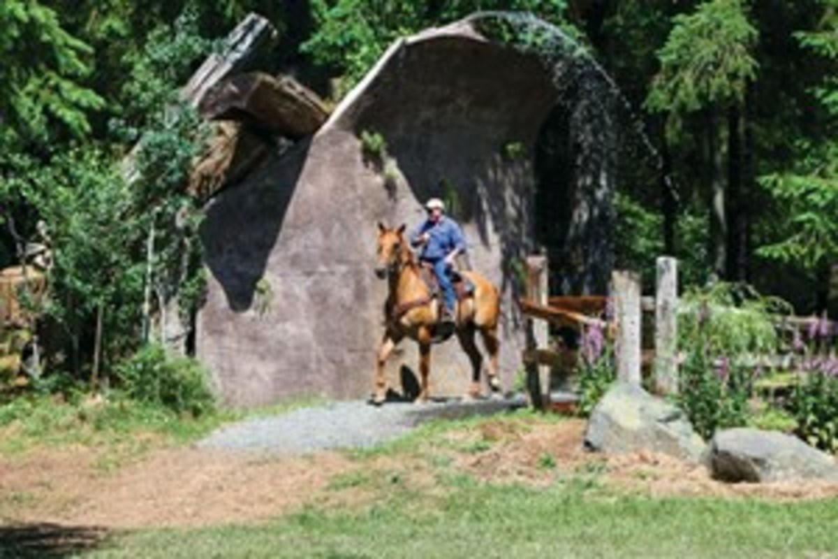 Credit: Courtesy of Jim Thode Well-designed trails drain well and stand up to equine use. But give trails a rest for at least 48 hours after a heavy or prolonged downfall.