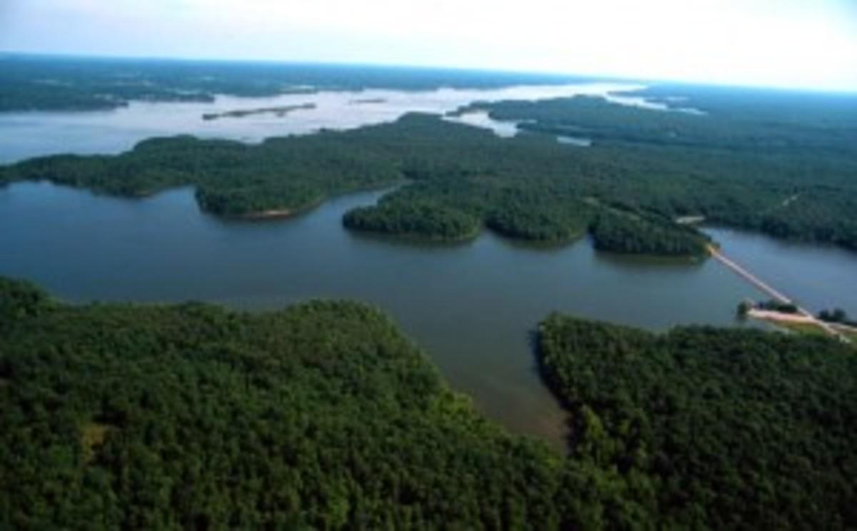 Credit: Photo Courtesy of Land Between the Lakes Land Between The Lakes is a 170,000-acre National Recreation Area nestled between Kentucky Lake and Lake Barkley.