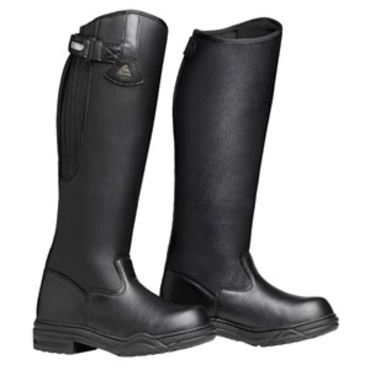 Credit: Courtesy of Mountain Horse USA Insulated boots and snug socks will  help keep your feet warm on cold fall  days. Shown are the Rimfrost Rider III boots and wool/nylon North Tech socks from Mountain Horse USA.