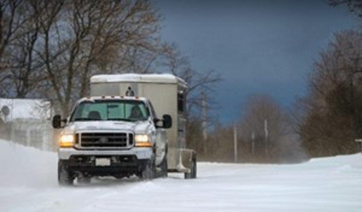 Credit: CLIXPHOTO.COM You can haul your horse all year long, even in the dead of winter, as long as you do so safely.