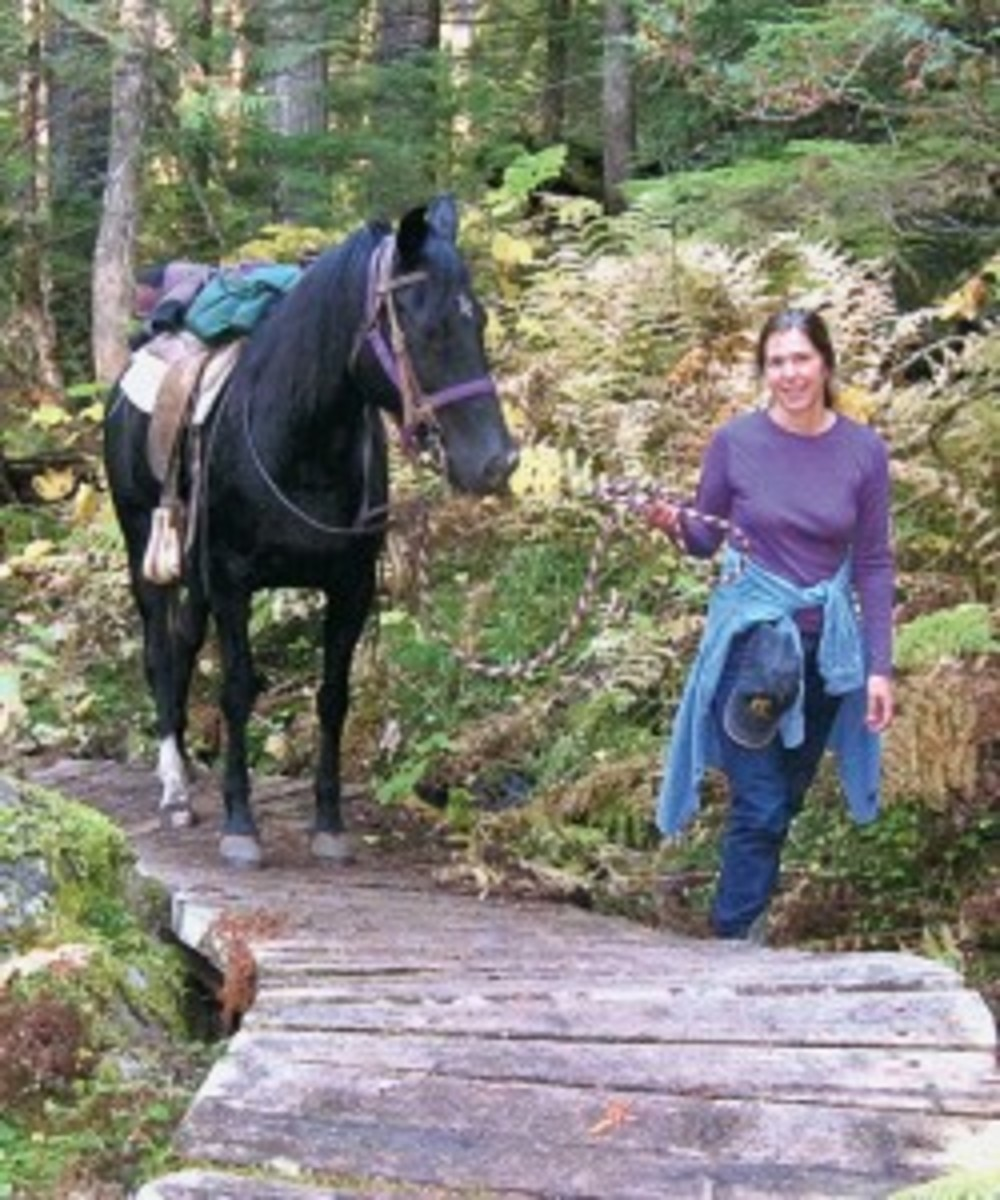 On her second post-fall trail ride, Hart reports that she and McKinnon